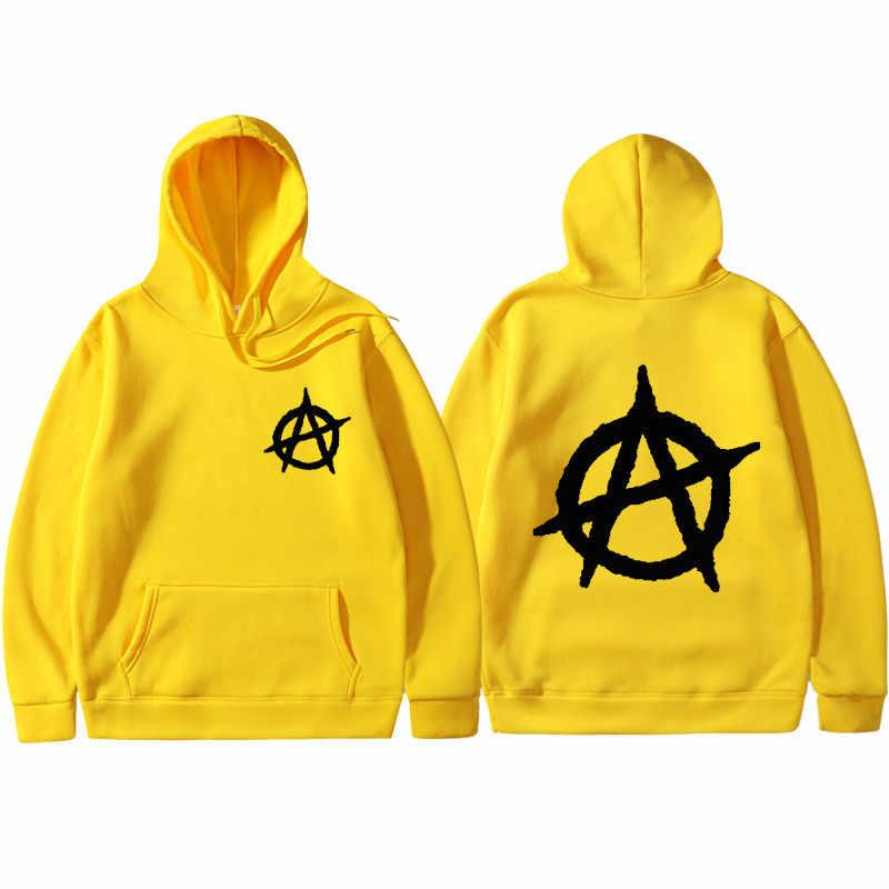 3D Stampa 2019 Nuovo Anarchy Punk Rock Deesign Stile Patchwork Non Felpe Dell'annata di Modo di Autunno della Molla Con Cappuccio Da Uomo