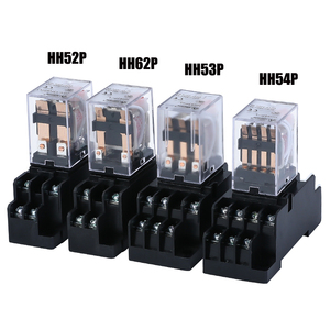 Interruptor eletromagnético universal do relé da bobina do relé de hh52p my2nj hh53p micro dpdt com tomada da c.c. 12 v 110 v 24 v da c.a. 220 v