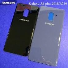 Original samsung galaxy a8 plus 2018/a730 universal caixa de vidro habitação bateria traseira capa porta traseira substituição ferramenta adesiva