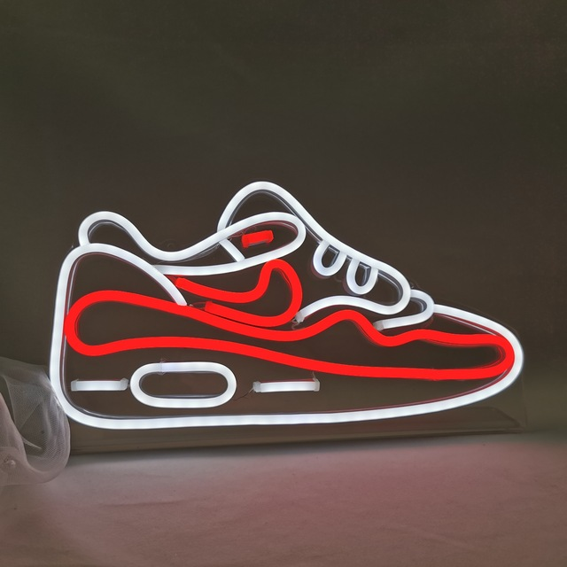 Birthday gift Home decoration Custom Shoes Neon Light Led Neon Light Sign Board Display For Store