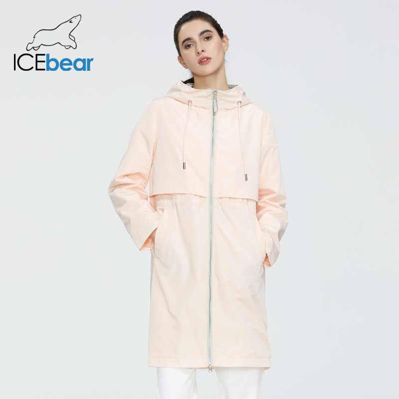 ICEbear 2020 ผู้หญิงฤดูใบไม้ผลิ Trench Coat คุณภาพผู้หญิงเสื้อผ้าแฟชั่นผู้หญิง windbreaker GWF20130I