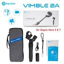 FeiyuTech Vimble 2A עבור Gopro Hero 5 6 7 פעולה מצלמה כף יד Gimbal מייצב 18cm הארכת מוט וידאו Gimbal vimble 2 א