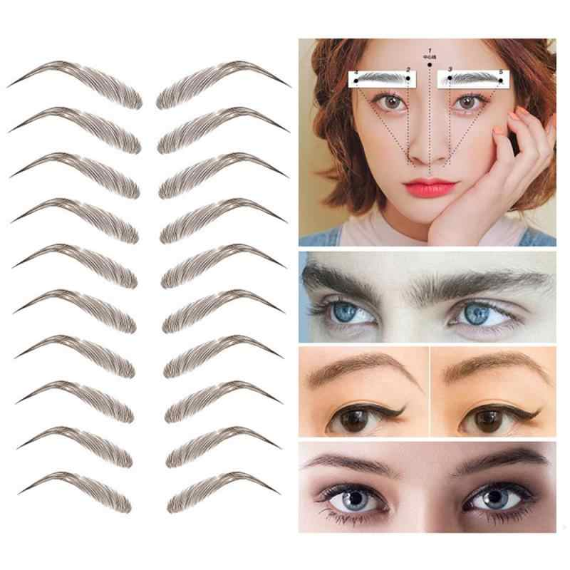 4D Haar-Wie Augenbrauen Aufkleber Tattoo Augenbrauen Wasserdicht Stereo Natürliche Dauerhafte Make-Up Falsche Augenbrauen Kosmetik TSLM1