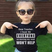 Kids Tshirt Talk Moving Dear Tops Short-Sleeve Teacher Funny Fashion Children Outfit
