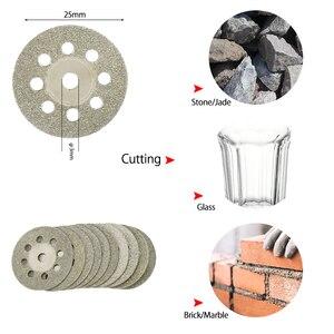Image 3 - 32 sztuk zestaw brzeszczotów tarczowych HSS Mini żywiczne tarcze tnące diamentowe tarcze tnące narzędzia obrotowe akcesoria do Dremel Wood Plastic