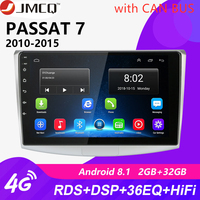 10 2G+32G Android 8.1 4G NET RDS Car Radio Multimedia Video Player For VW Volkswagen Passat B7 B6 2010 2015 Magotan CC DSP