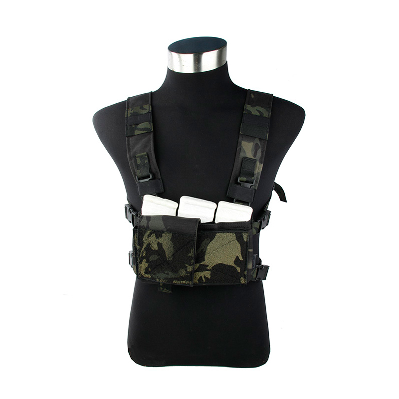 2019 New MCBK  Light Chest Vest SS Chest Rig Multicam Black