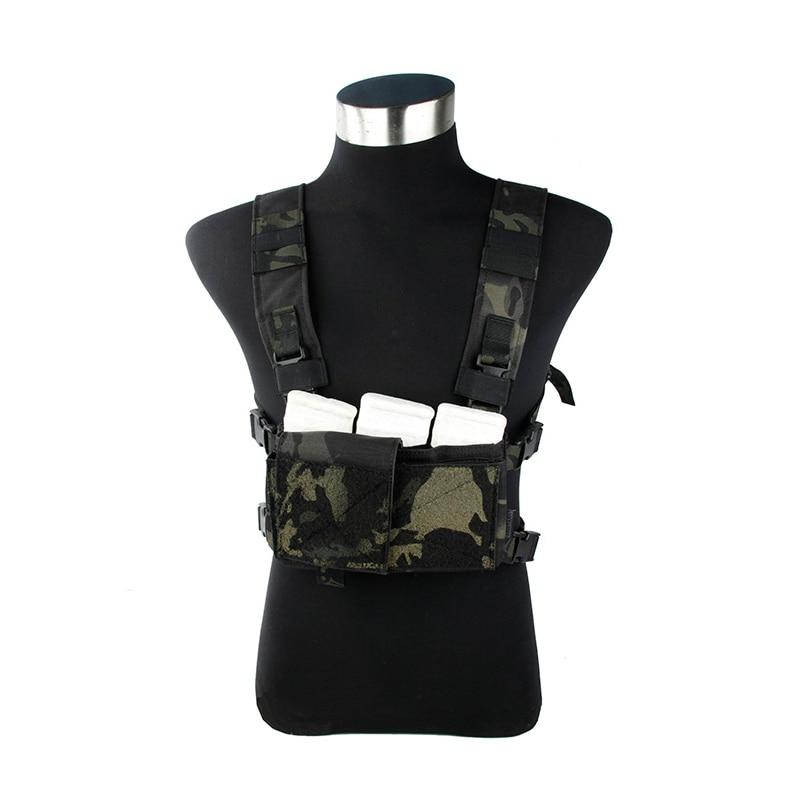 2019 New MCBK  Light Chest Vest SS Chest Rig Multicam Black
