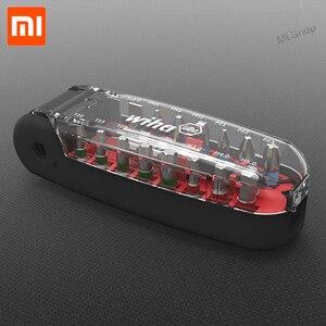 Image 5 - Xiaomi Wiha 17 في 1 وجع مفك بت كيت المغناطيسي التمساح الفم شكل البسيطة المحمولة جيب مفك مجموعة أداة إصلاح