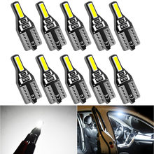 10pcs T10 led W5W Led Bulbs Led Interior Light 7020SMD White 12V For Mazda 3 6 CX-5 323 5 2 CX5 Peugeot 307 206 308 407 207 4008