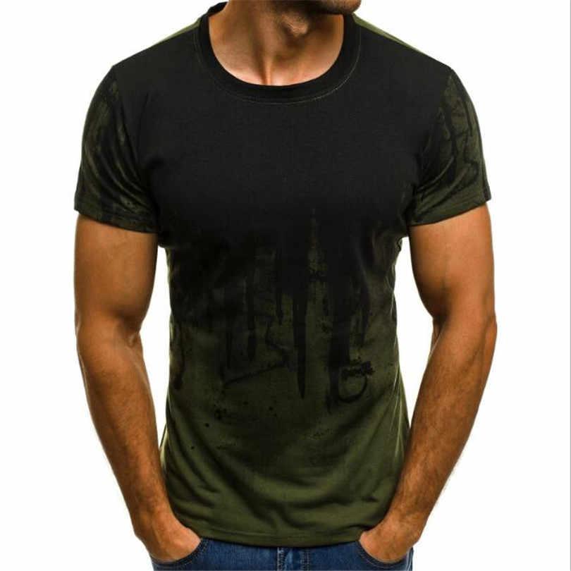 2020 männer mode sport fitness camouflage kurzarm T-shirt sommer persönlichkeit druck T-shirt männer