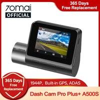 70mai Dash Cam Pro Plus A500S Gps 70mai Plus + Auto Dvr 1944P Speed Coördinaten Adas 24H Parking ondersteuning Achter Cam