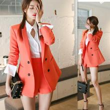 summer new pant suits women OL casual Shorts suit foreign suit high waist shorts two-piece blazer set pant suits for women suits
