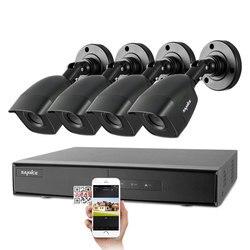 Камера видеонаблюдения SANNCE, 4 шт., 4 канала, 5 в 1, DVR, 1080P, защита от непогоды, для улицы