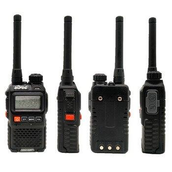 2PCS BAOFENG UV-3R+ Mini Walkie Talkie UHF VHF Portable CB Radio Transceiver UV3R Plus Amateur Ham Radio Station Woki Toki 3W 4