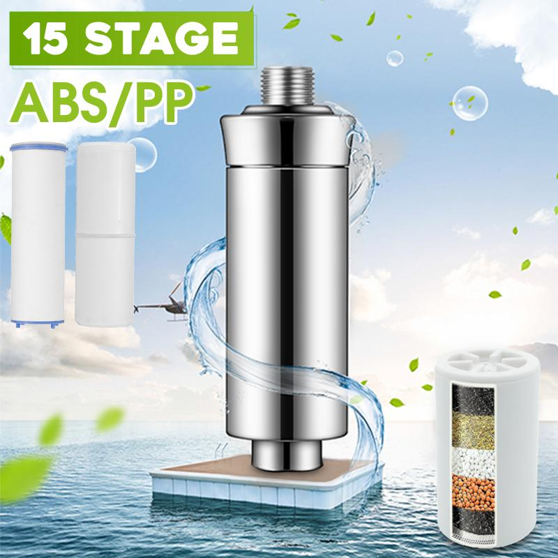Purifier Shower Filtration 15  PP/ABS Shower Filtration Purifier Bathing Water Filter Water Treatment Health Softener