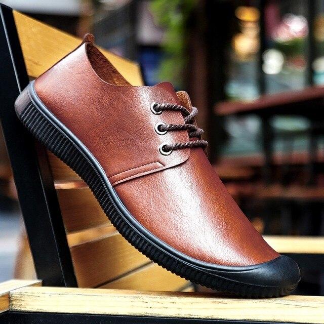 Купить мокасины мужские из экокожи повседневные туфли на плоской подошве картинки цена
