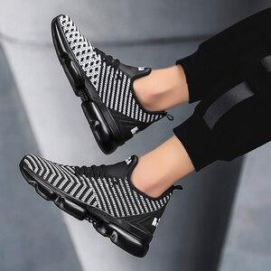 Image 2 - QGK 2019 جديد الرجال حذاء كاجوال وسادة هوائية أحذية رياضية الرجال شبكة ضوء تنفس الربيع في الهواء الطلق أحذية رياضية الصيف تشغيل رياضية