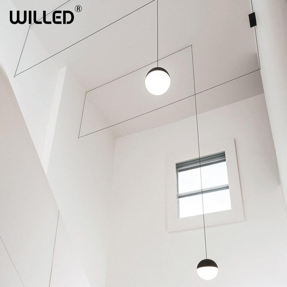 Moderne créatif suspension lampe chambre salon salle de réunion industrielle suspension lampe couloir décor éclairage minimaliste Luminaire