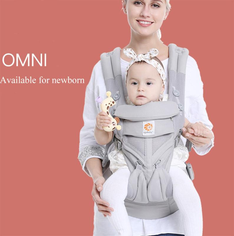Эго Рюкзаки-кенгуру Omni все носят позиции Детский костюм на лямках, с прохладным воздухом, сетчатые хлопковые носки четыре сезона для мам, па...
