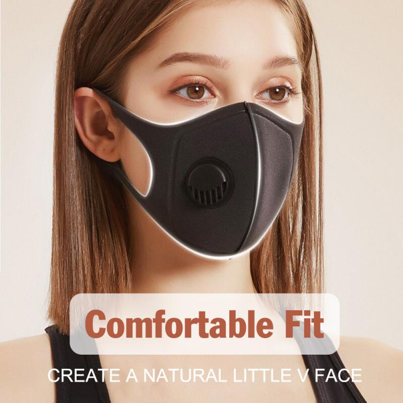 1PC Reusable Mouth Face Masks With Breathing Valved Anti Dust Breathable Anti Ear Pain Facial Mask Respirator With Filter TSLM1 1
