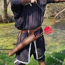 Кожаная кобура для стрел в средневековом стиле кверсивная квера