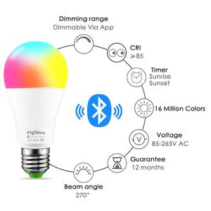 Image 2 - New Wireless Bluetooth Smart Bulb LED 10W RGB Magic Lamp E27 Color Change Light Bulb Smart Home Lighting Dimmable  IOS / Android
