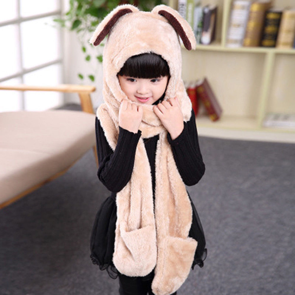 Children Autumn And Winter Hat Scarf Gloves Three-piece Korean Version Of The Tide Wild Students Winter Thick Warm New Arrival
