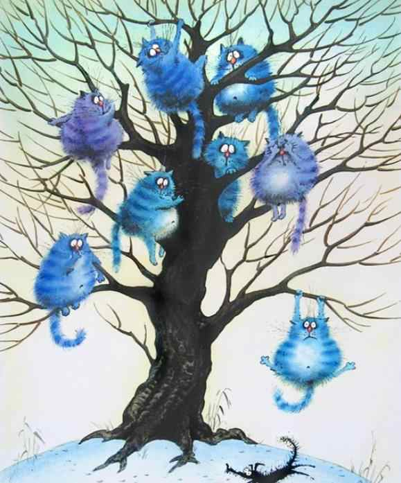 5D Diy بها بنفسك الماس التطريز الكرتون الأزرق القط ألواح تلوين حرفية لامعة غرزة كامل مربع حجر الراين فسيفساء ديكور المنزل