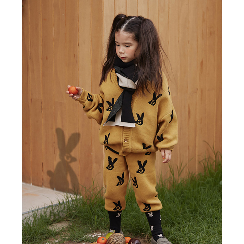 2021 New Autumn Winter Kids Sweaters for Boys Girls Cute Print Knit Cardigan Baby Children Fashion Cotton Outwear Brand Clothes 4