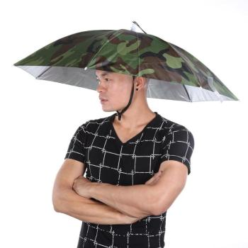 Przenośny parasol przeciwdeszczowy kapelusz zieleń wojskowa składany odkryty Pesca parasol przeciwsłoneczny wodoodporny Camping wędkowanie nakrycia głowy czapka plażowa kapelusze na głowę tanie i dobre opinie JOCESTYLE CN (pochodzenie) Umbrella Hat Drukuj Parasolka Other fishing hat umbrella for fishing fishing umbrella fishing cap