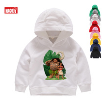 Maui Hoodies Autumn Long Sleeves Kids 2019 White & Sweatshirts Girls Top Cotton Moana Teens 6-12Year