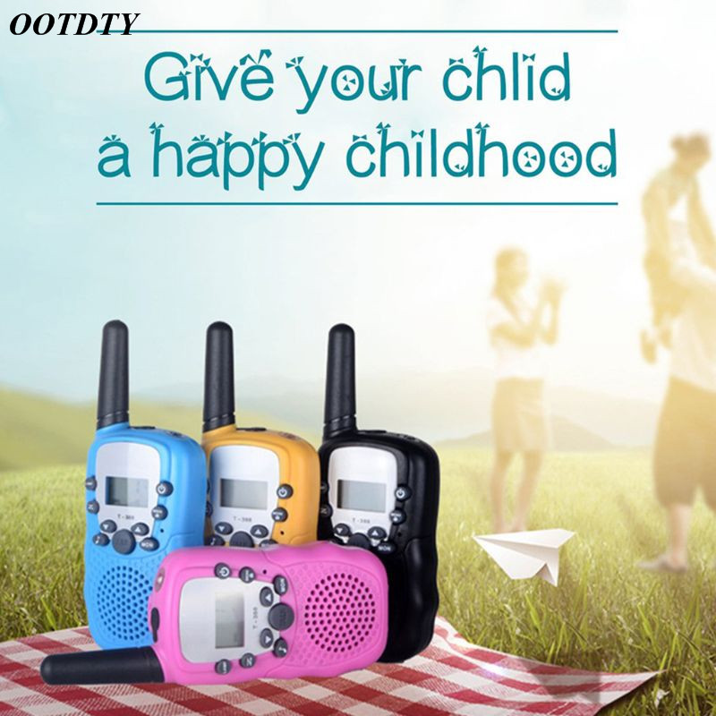 1Pair Child Kids Walkie Talkie Parenting Game Mobile Phone Telephone Talking Toy 3-5KM Range For Kids