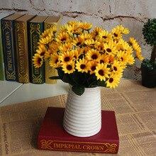 22 Heads Sunflower Fake Flower Bouquet Floral Garden Home Decor Decorative Flowers Festival Party Wedding Table