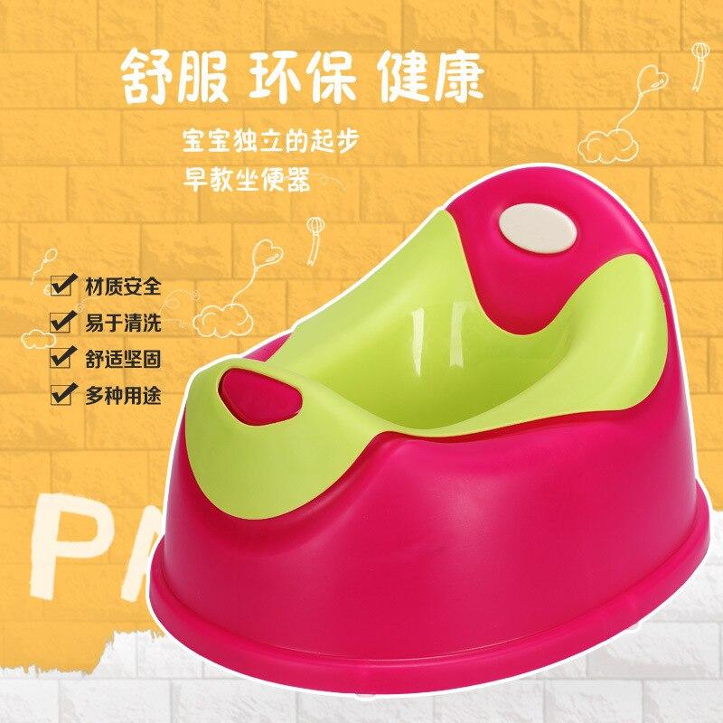 Toilet For Kids Men And Women Baby Chamber Pot Waterproof Scratch-Resistant Easy To Cleaning Cute Bear Modeling Splittable Leak-