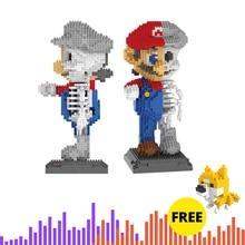 Bricks Toys Building-Blocks Diamonds Japanese 7807 Bros Mini Super-Marioed Anime-Game