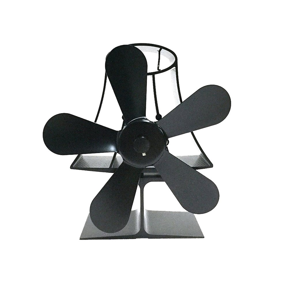 YL-103 Table Lamp Thermodynamic Fireplace Fan Thermal Power Fireplace Fan Eco Friendly Five-leaf Fan