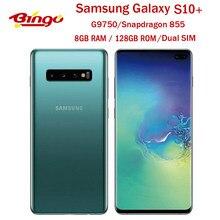 Samsung Galaxy S10 + S10 artı G9750 128G çift SIM Unlocked cep telefonu = = = = = = = = = = = = Snapdragon 855 Octa çekirdek 6.4