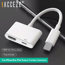 !ACCEZZ HDMI-compatible Cable to 8Pin OTG Adapter For iPhone 12 11 Pro TV Digital AV