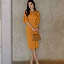 Осенне зимний новый корейский темпераментный Женский блейзер