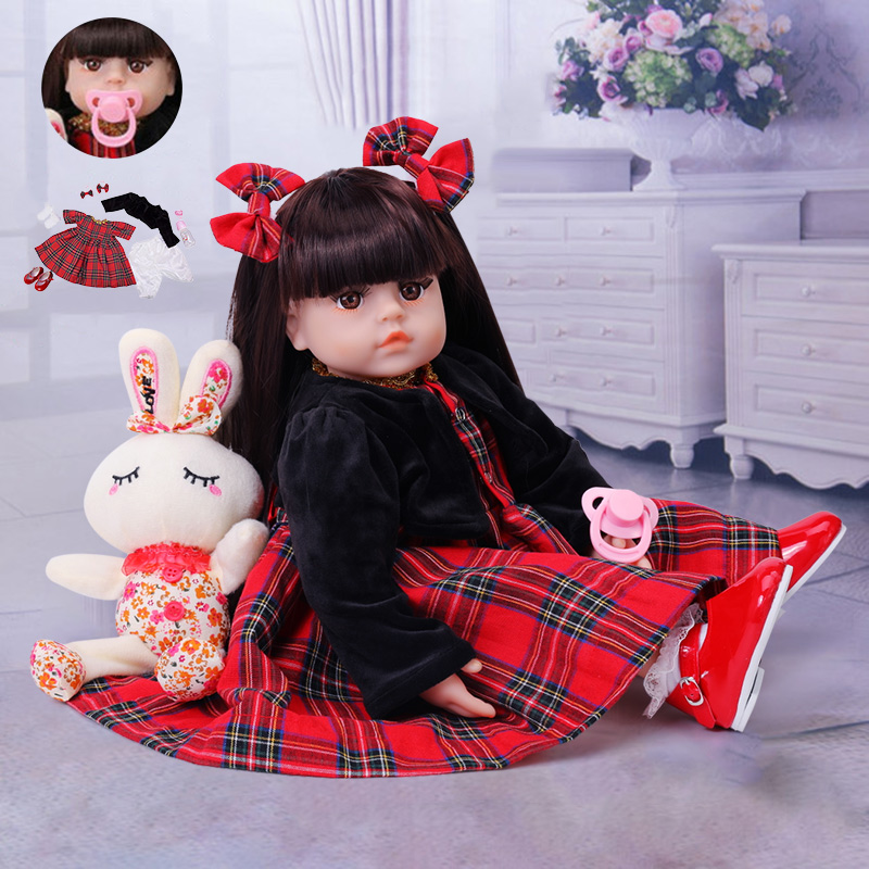 48cm Soft Silicone Newborn Baby Doll 19 Inch Reborn Babies DOLLS Toddler Stuffed Lifelike Realistic Bonecas Doll Toys For Kid