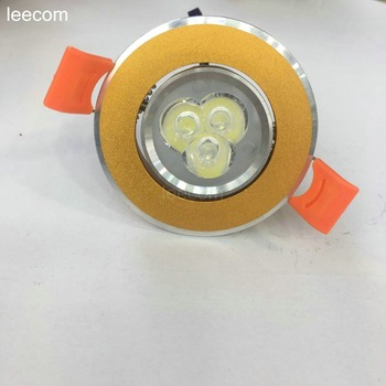 20pcs/lot Led Downlight Light 3w Ceiling Spot 3w 85-265v Recessed Lights Indoor Lighting 5 Years Warranty Time