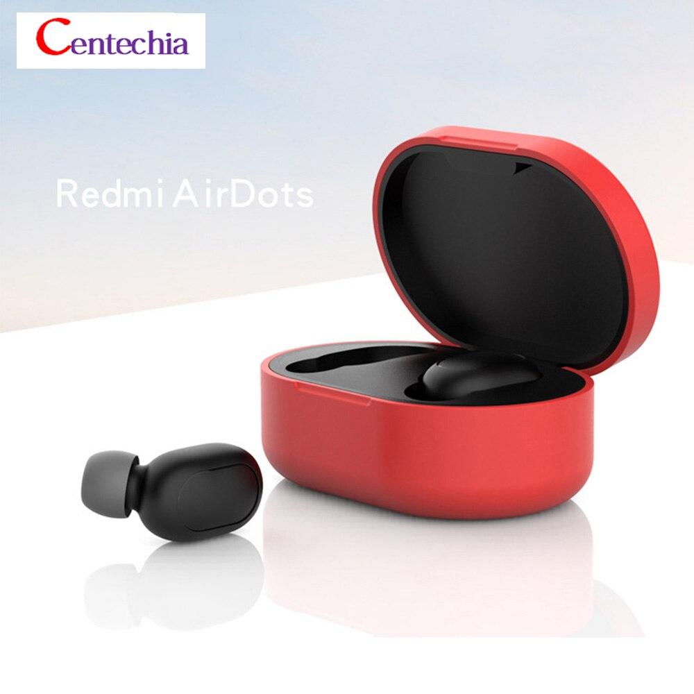 2019 New Arrival Silicone Protective Cover Earphone Case For Xiaomi Redmi Airdot TWS Bluetooth Earphone Fashion Version Wireless