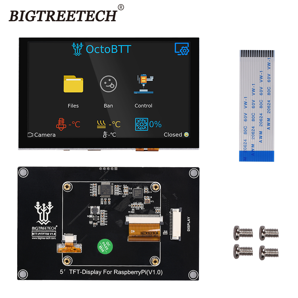 BIGTREETECH BTT PITFT50 V1 0 Capacitive Touch Screen Panel 800 480mm 5 Inch DSI Raspberry Pi LCD Display 3D Printer Parts