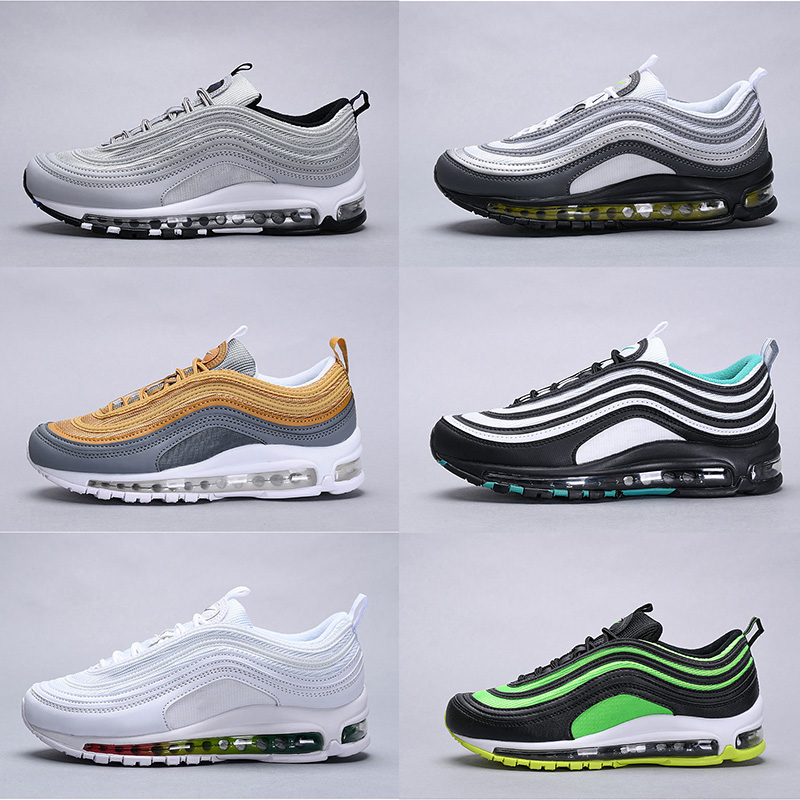 AQLOAC Men Air Running Shoes 97 Outdoor Sport Trainers Lightweight Sneakers Footwear Jogging Breathable Shoes Max Size US13