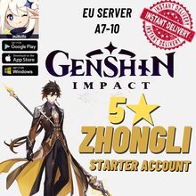 Genshin Impact Zhongli 5 Star Account EU AR7 [Instant Delivery] Genshin Impact Account cheap NONE CN(Origin) Genishin Impact Fast delivery with 24 hours