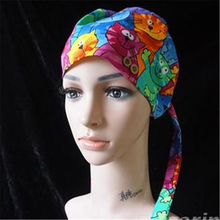 Operating cap cotton thin operating room hat women and men beauty salon printed dotted dog bowler nurse