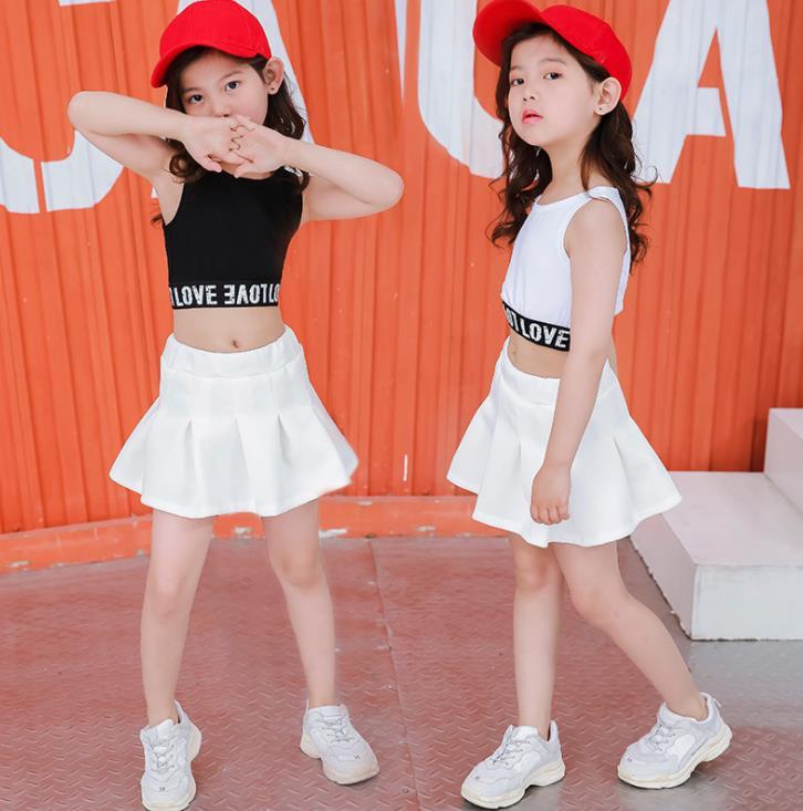 جميل عارضة اثنين من قطعة الاطفال المحاصيل أعلى تنورة مجموعة للفتيات 3 4 6 8 9 10 11 12 13 14 15 16 سنوات المراهقات ملابس الصيف 2019