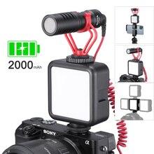 Ulanzi Mini przenośne światło LED do kamery potrójne zimne buty akumulator Vlog wypełnienie światło oświetlenie fotograficzne zestaw ze statywem CRI95 +