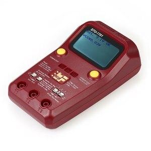 Multímetro digital medidor de transistor, testador de transistor, megger, testador de isolamento, indutor de resistência, capacitância esr, DTU-1701